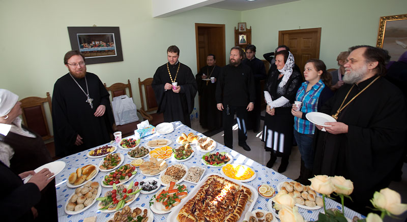 After the liturgy all went to the refectory