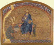 Theodore Metochites before Christ, the Land of the Living. Credit: Courtesy of Dumbarton Oaks